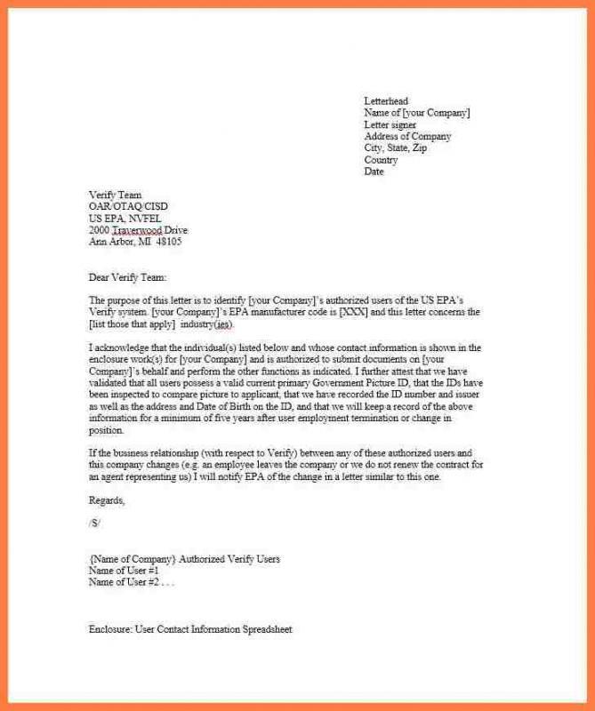 company letterhead sample