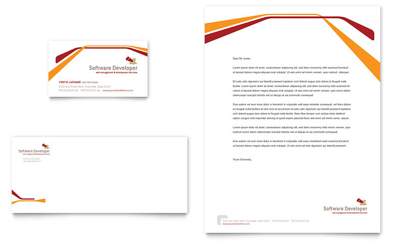 Company Letterhead Template Word  Template Business