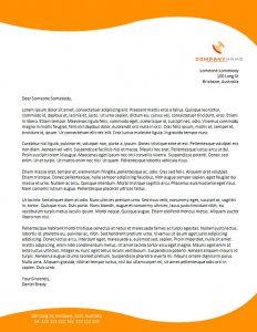 company letterhead templates business letterhead templates free