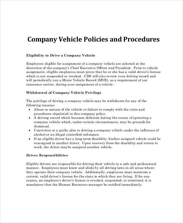 Company Policy Template | Template Business