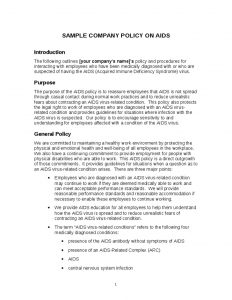company policy template company policy on aids template