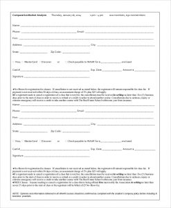 comparative market analysis form comparative market analysis form
