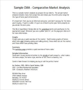 comparative market analysis template comparative market analysis pdf free template