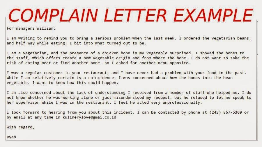Complaint letter formats template business complaint letter formats spiritdancerdesigns Images