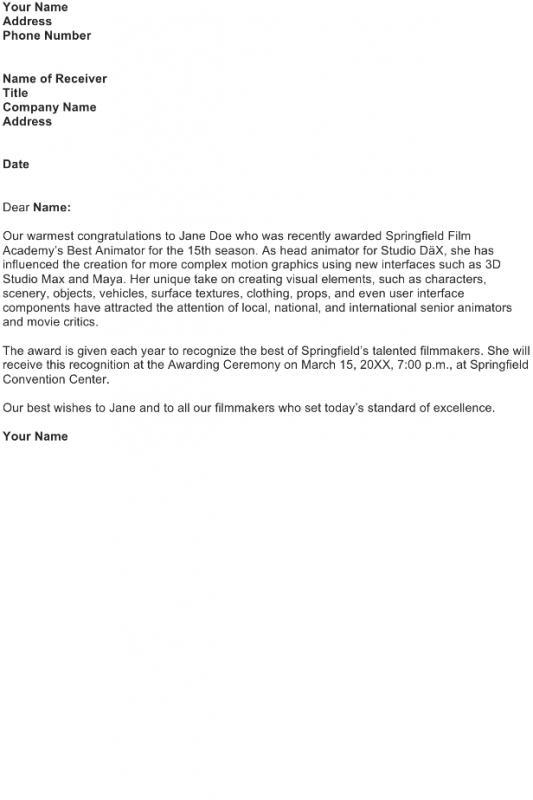 complaint letter formats