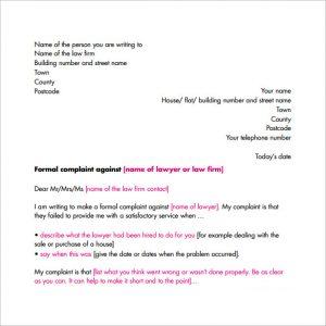 complaint letter formats formal letter complaint format pdf