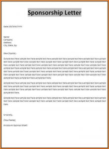 complaint letters sample sponsorship cover letter