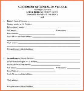 Complaints Forms Templates Car Rental Agreement Car Lease Agreement Form
