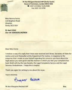 complaints letters samples margaret beckett mp