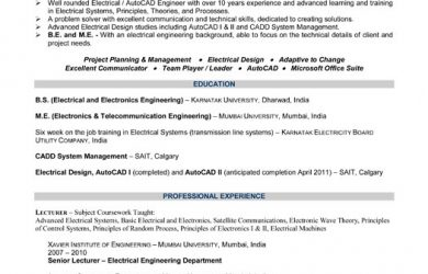computer engineer resumes chief electrical engineer resume
