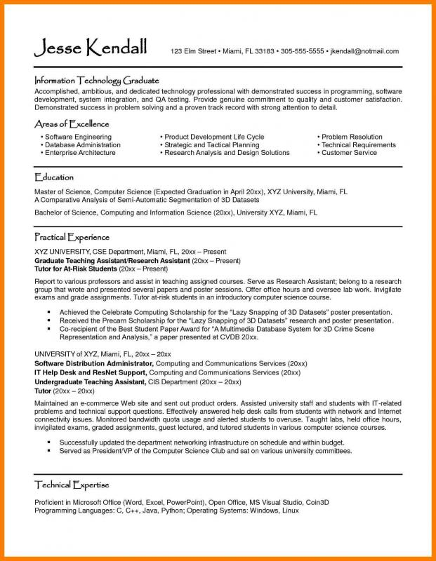 Intern Resume Sample Computer Science Internship Resume Template Business  Sample Resume For An Internship   Computer  Computer Science Resumes