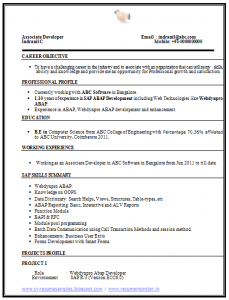 computer science resumes computer science resume sample ()