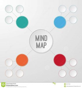 concept map template word template mind map infographic your text vector illustration