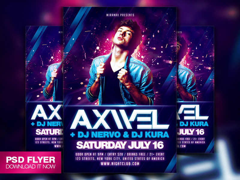 concert posters template