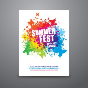 concert poster template summer festival poster template