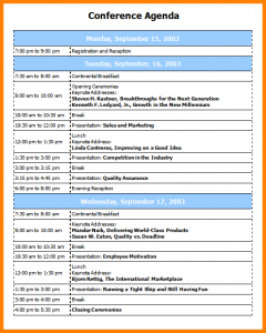conference agenda template conference program templates conference agenda template
