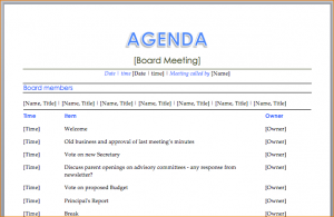 conference agenda template team meeting agenda board meeting agenda