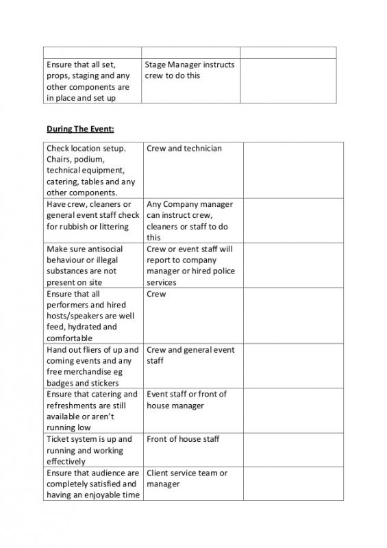 Conference Planning Template
