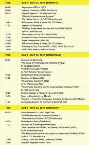 conference schedule template schedule