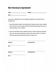 confidentiality agreement form 126677