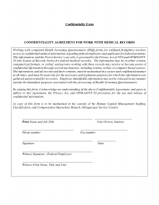 confidentiality agreement samples