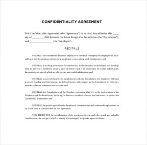 confidentiality agreement samples admin confidentiality agreement template