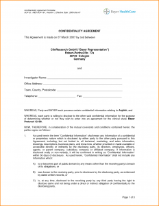 confidentiality agreement samples sample confidentiality agreement sample confidentiality agreement template