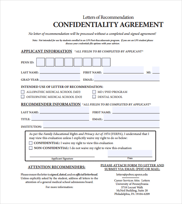 Confidentiality Agreement Template  Template Business