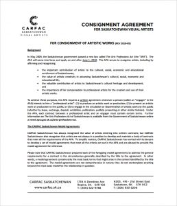 consignment agreement template simple consignment agreement