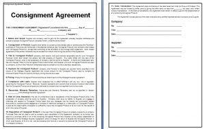 Consignment Contract Template | Template Business