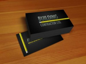 construction business card professional construction workers business card fullsize