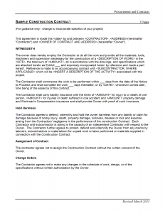 construction contract template construction agreement sample