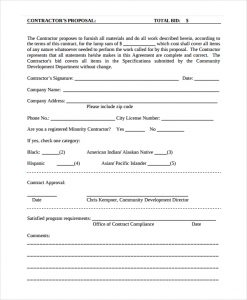 construction proposal template contractor proposal template