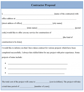 construction proposal template contractorproposaltemplate