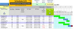 construction schedule template excel sch screenshot