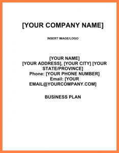 construction work order template business plan title page example
