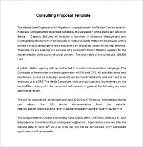 consulting proposal template management consulting proposal free word download