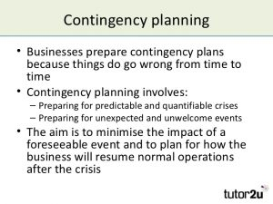 contingency plan example managing risk and contingency planning