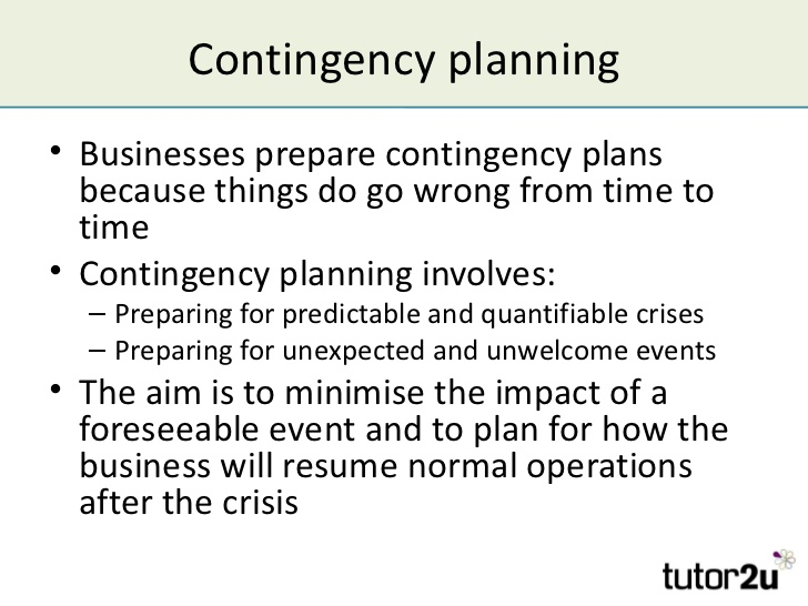 Contingency plan example template business for Contingency plan template for a small business