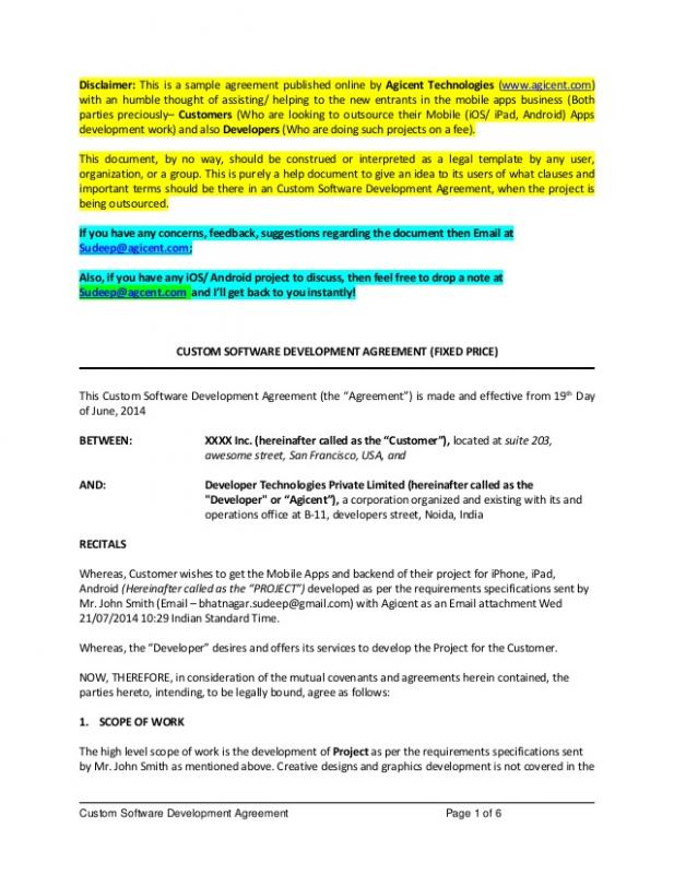 Contract For Services Template  Template Business