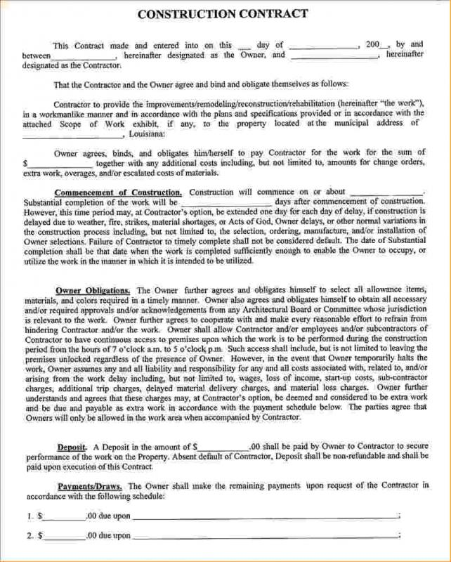 Contract Proposal Template Template Business