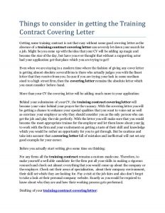 contractor agreement template things to consider in getting the training contract covering letter