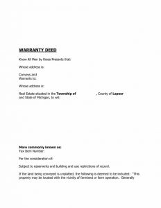 contractor agreement template warranty deed template