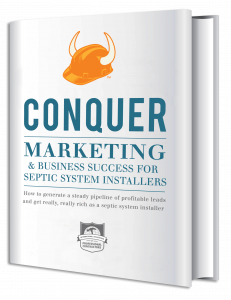 contractor business cards marketing for septic system installers