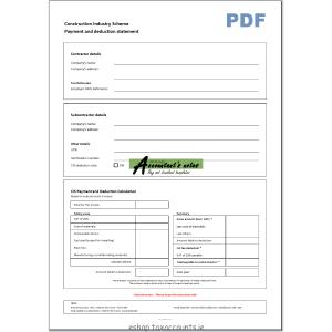 contractor invoice template cis singlepaymentdeductionstatement screenshot pdf xpg