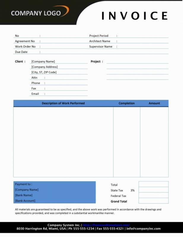 Contractor Invoice Template  Template Business