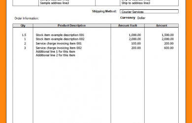 contractor invoice template format of performa invoice
