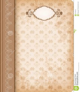 cookbook template free cover book old fashioned vector