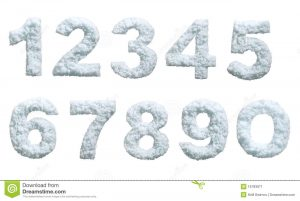 cool fonts download snow styled numbers