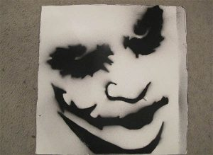 cool stencils for spray painting joker spray paint stencil